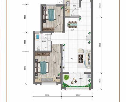 紅太陽花園B2兩室兩廳一衛