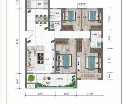 紅太陽花園A2四室兩廳兩衛