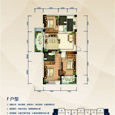 赤壁·凤凰城1#F户型户型图