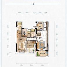 赤壁碧桂园1#2#3#户型Y297-B户型图