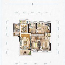 赤壁碧桂园1#2#3#户型Y297-A户型图