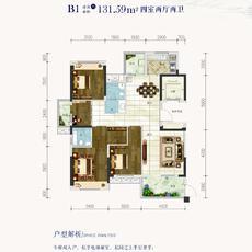 鹏成·清华府--8#、4#楼B1户型