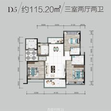 鵬成·翰林府D5戶型圖