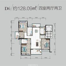 鵬成·翰林府D6戶型圖